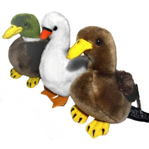 Set of 3 Wildfowl Water Bird 13cm Soft Toys - 2 Ducks and a Swan