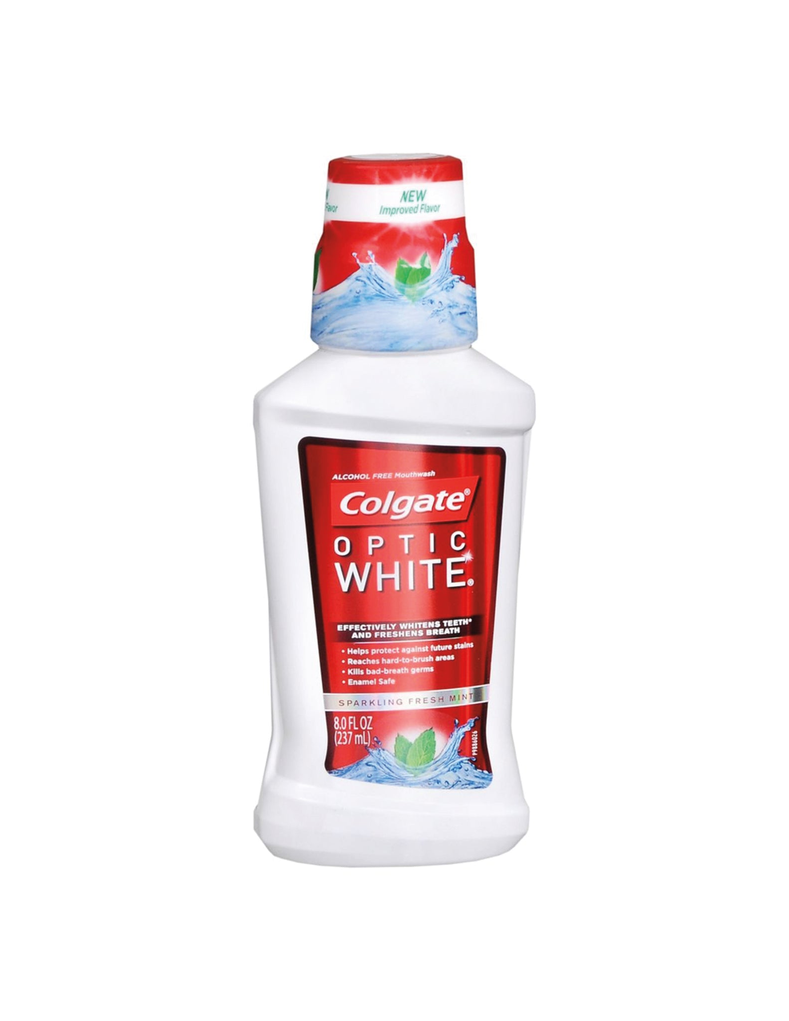 bvi>Colgate Optic White Fresh Mint Mouth Wash 8 oz (236 ml)
