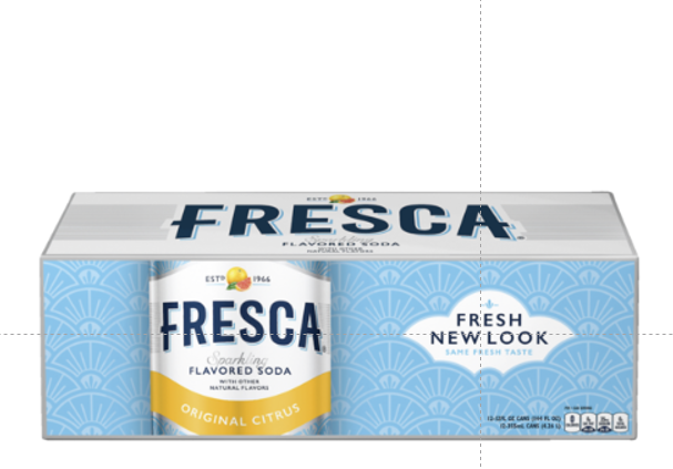 bvi>Soda, Fresca Original Citrus 12 oz (355 ml) cans 12 pack