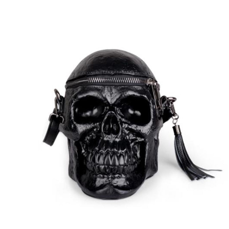 Skull Bag Head Black Shoulder Bag For Women Men