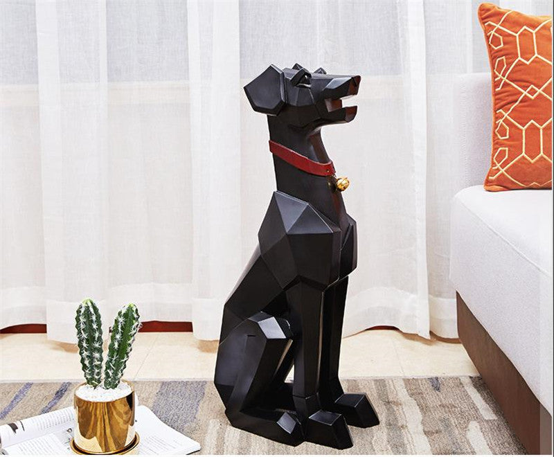 Nordic Light Luxury Dog Table Floor Decoration Living Room Sculptures Home Decor Art