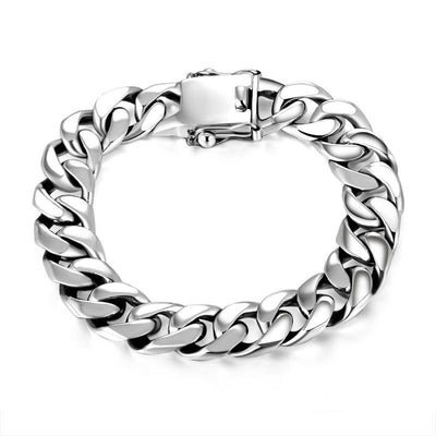 Luxury Vintage Bracelet Chain Punk 925 Sterling Silver High Polish