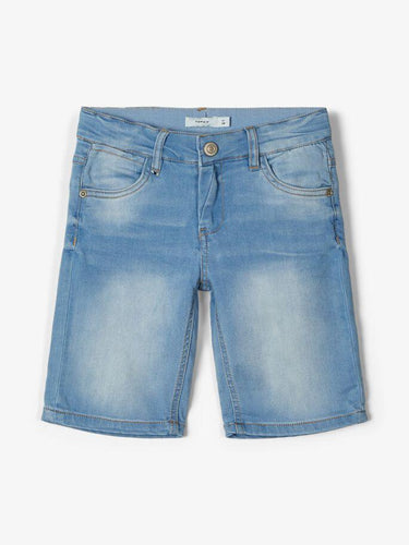SOFUS SLIM FIT DENIM SHORTS LYSBLÅ