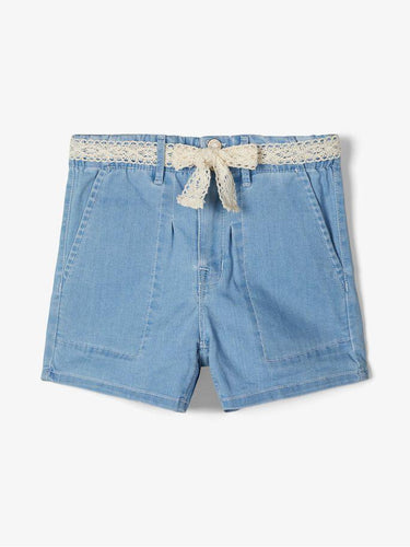BECKY HIGHWAIST BAGGY SHORTS BLÅ