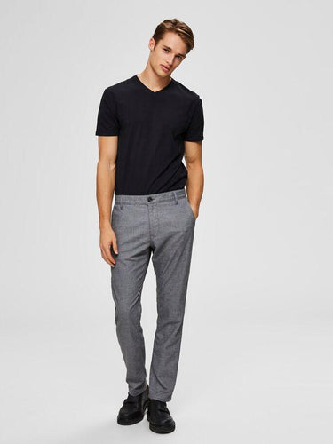 Pima V-Neck T-Skjorte Sort