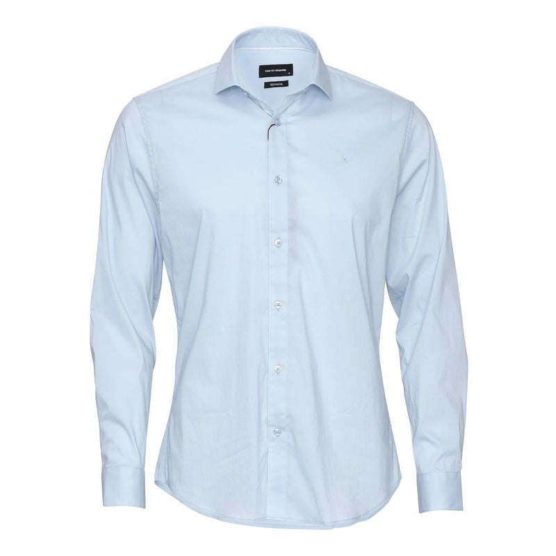 London Stretch Nano Shirt L/S - Light Blue