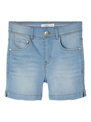Salli denim shorts lyseblå