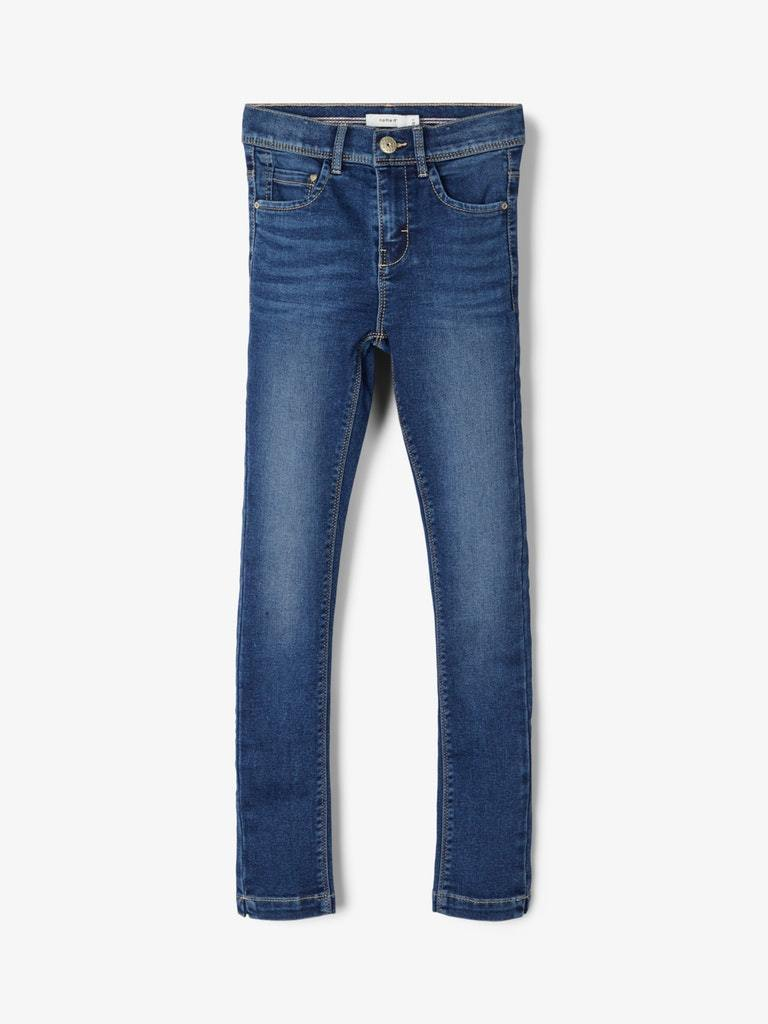 POLLY DNMCILLE  HIGHWAIST JEANS BLÅ