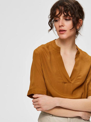 ELLA TOP BRONZE BROWN