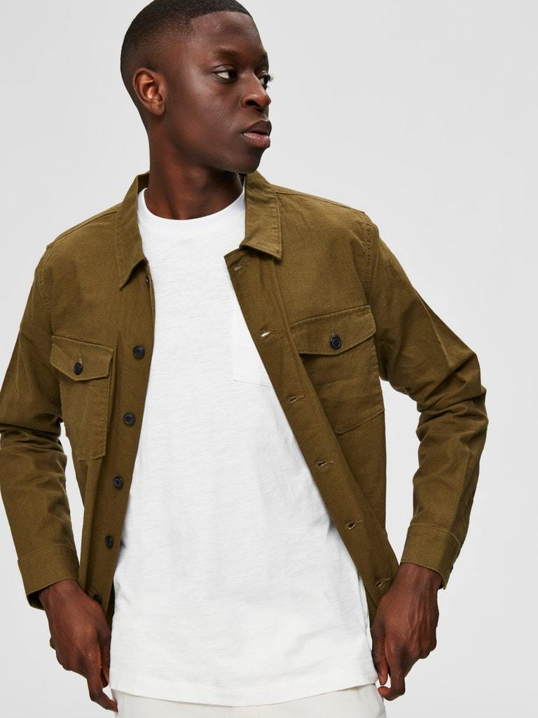 EAST LIN OVERSHIRT OLIVEN