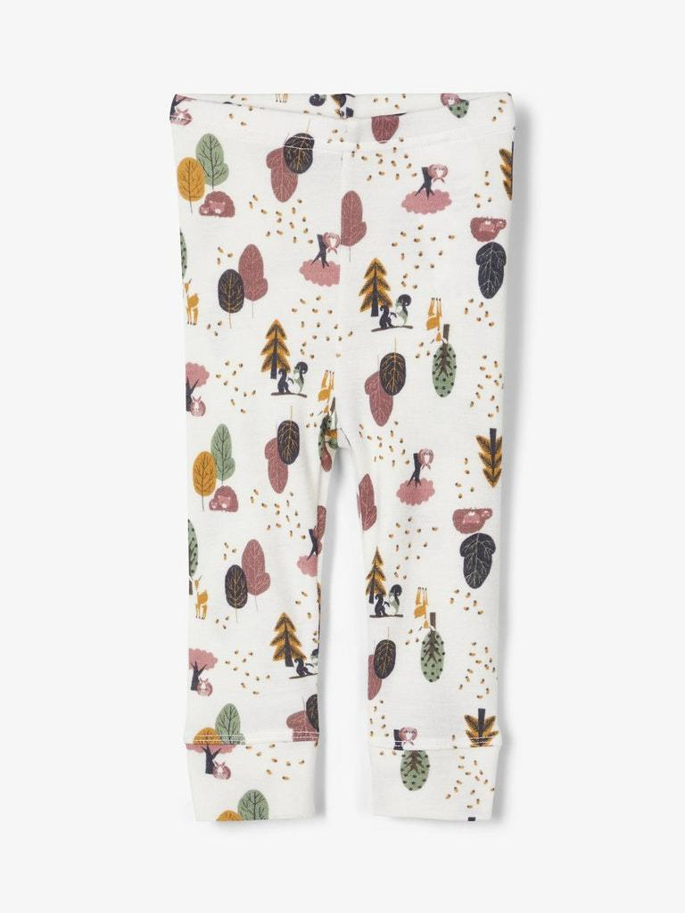Willit merinoull leggings hvit