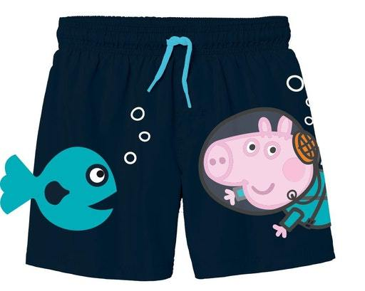 Peppa gris bade shorts blå