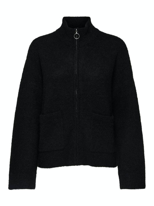 Sia knit zip cardigan sort