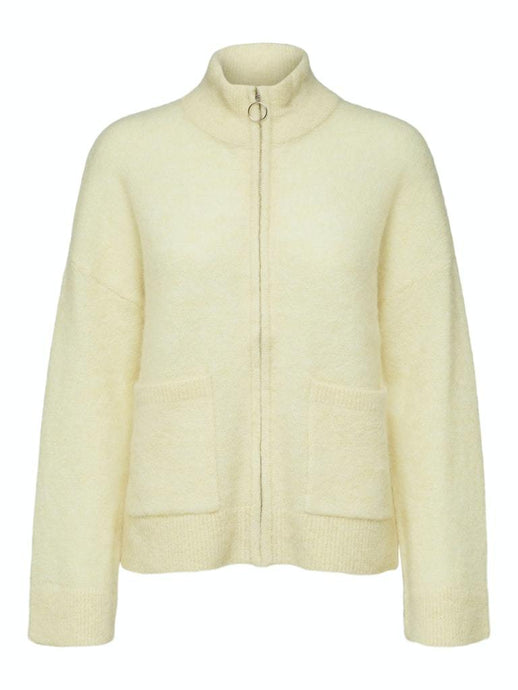 Sia knit zip cardigan gul