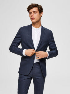 Slim fit blazer blå