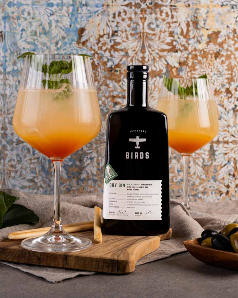 BIRDS Dry Gin Italy Edition Sizilien Drink