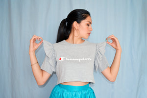 Playera Champion CROPPED - Liz Campos Mx