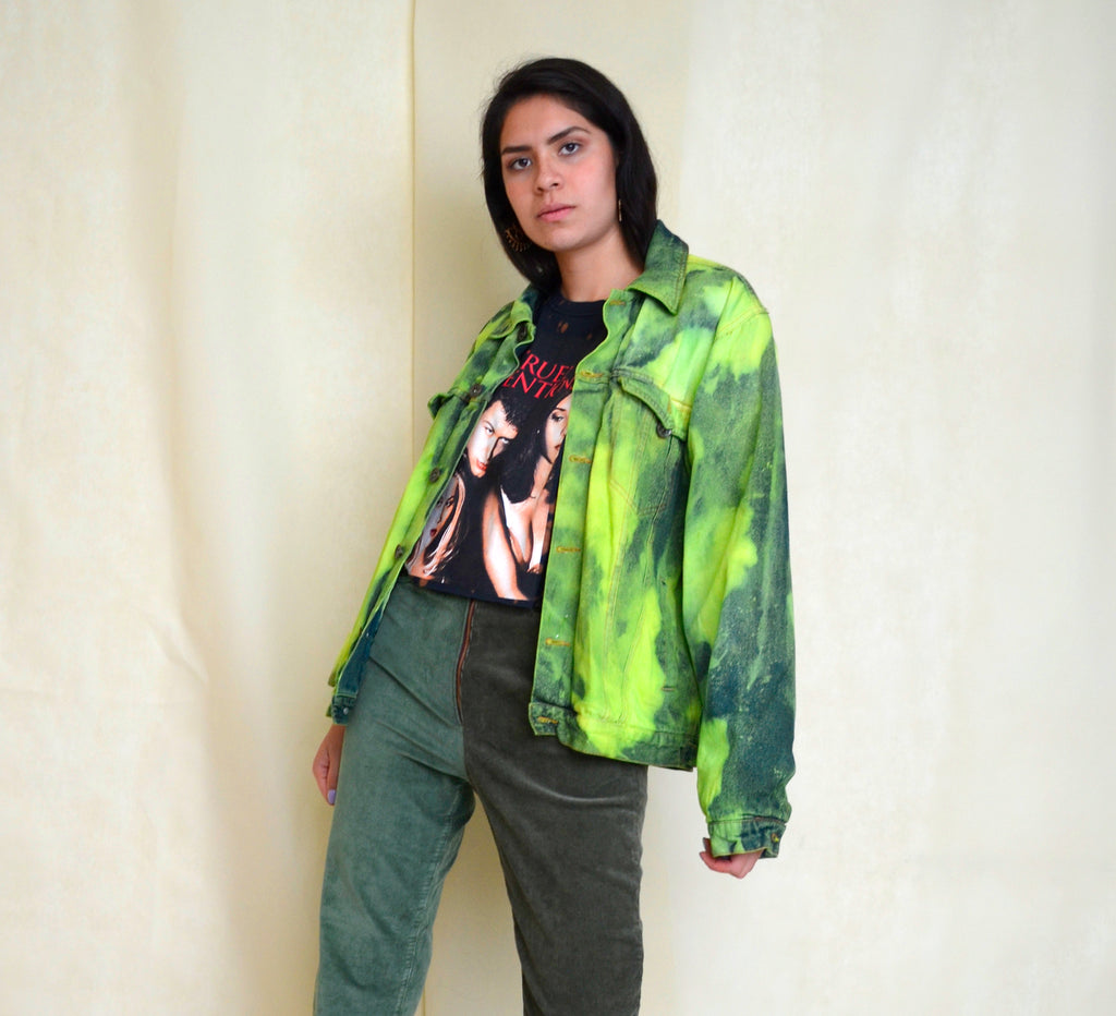 Chamarra Green Denim - Liz Campos Mx