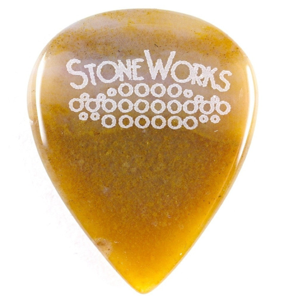 Ocean Wave Agate - Jazz Size Stone Guitar Pick