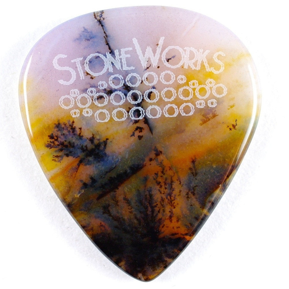 Snake River Agate - Stone Guitar Pick