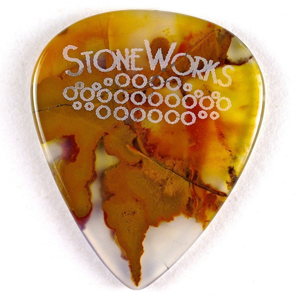 Polka Dot Agate - Stone Guitar Pick