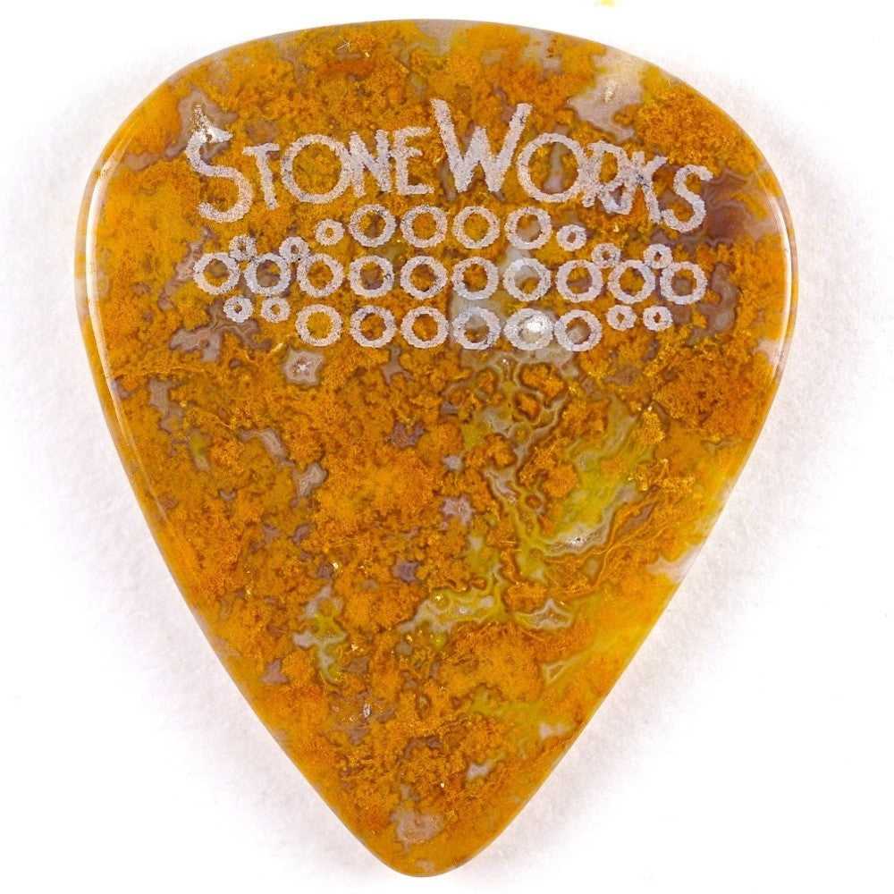 Moss Agate - Stone Guitar Pick