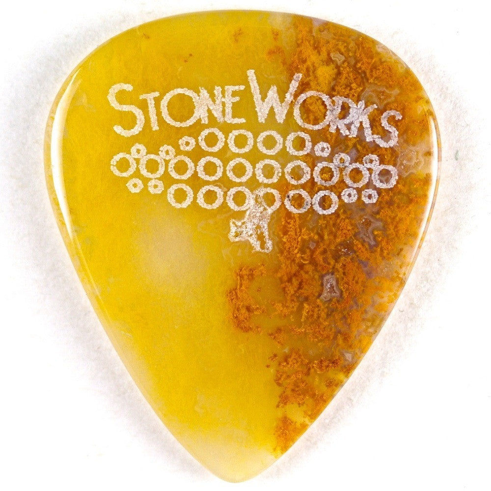 Moss Agate - Stone Guitar Picks