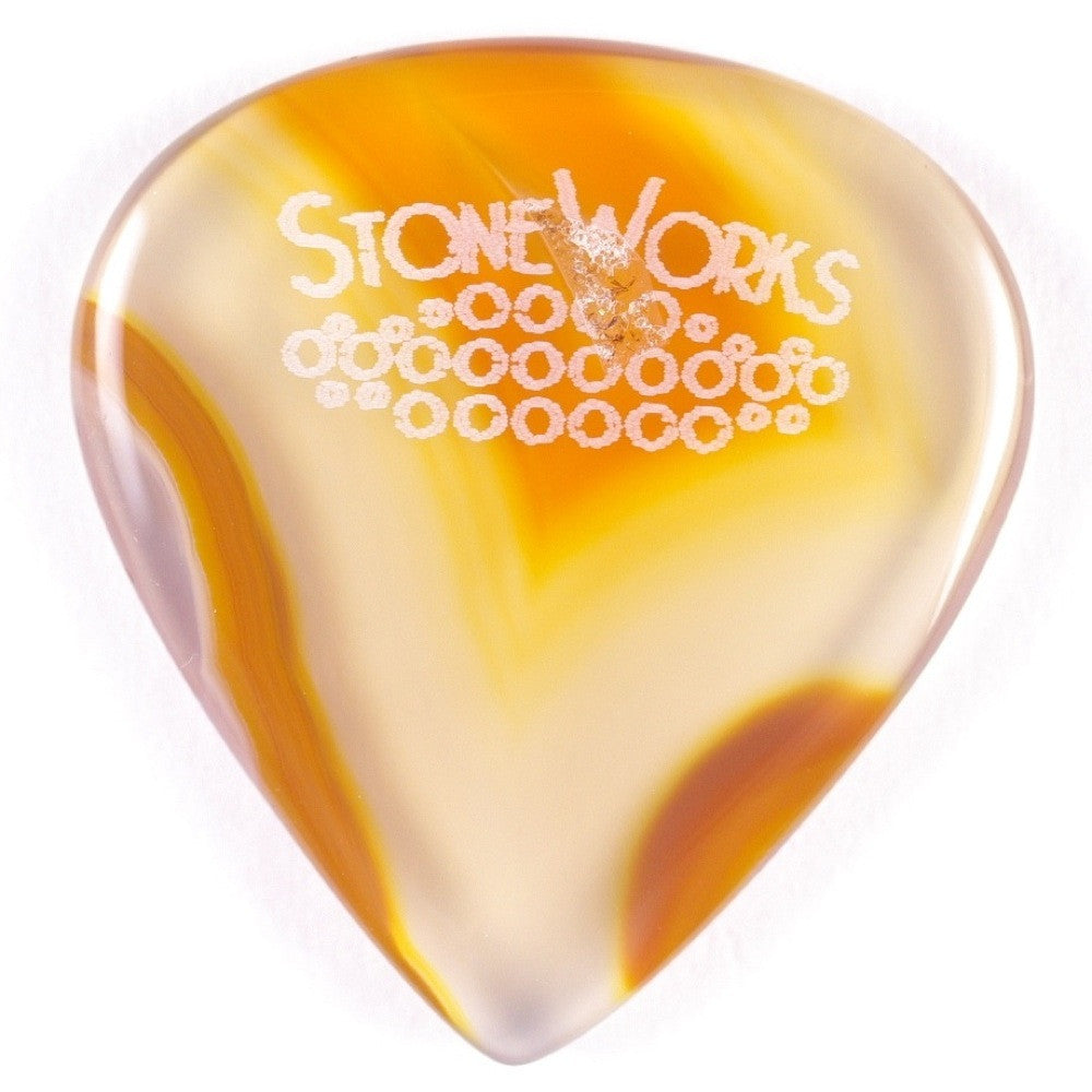 Brazilian Agate - Jazz Size Guitar Pick