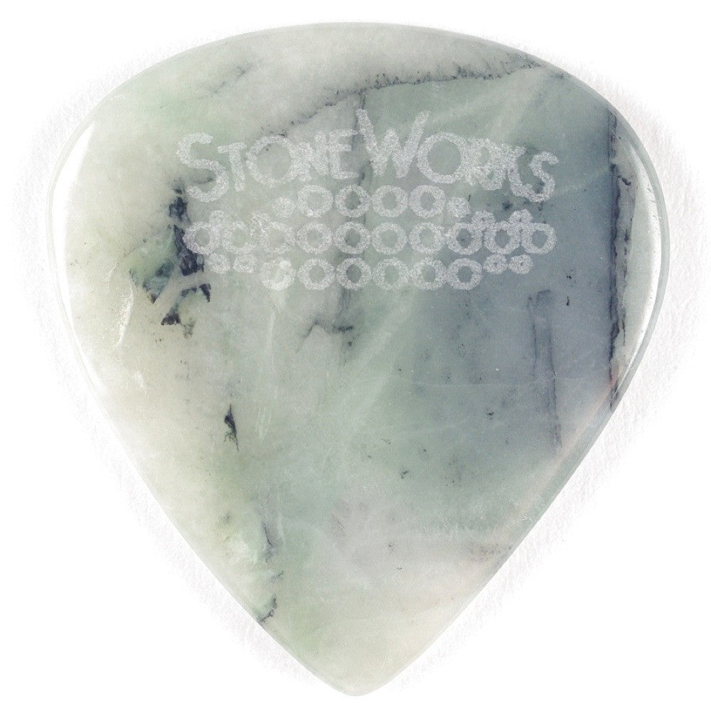 California Ice Jade - Jazz Size Stone Guitar Pick