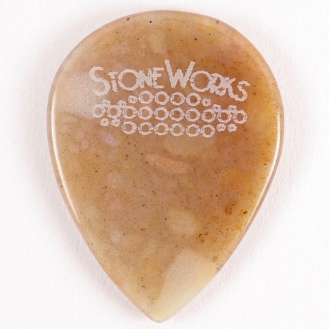 Ocean Wave Agate - Stubby Size Guitar Pick