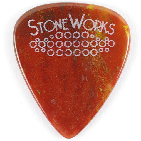 Red Moss Agate - Stone Guitar Pick