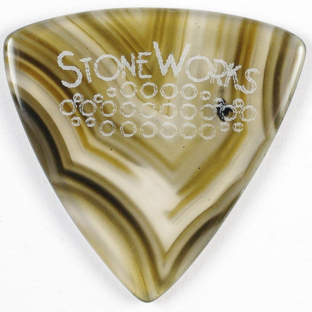 Brazilian Agate - Triangle Jazz Size Stone Guitar Pick
