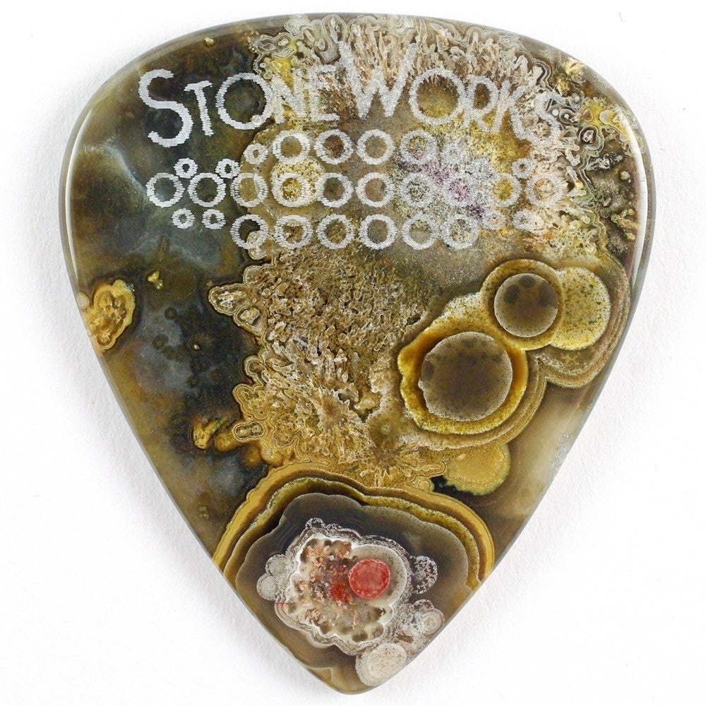 Crazy Lace Agate - Stone Guitar Pick