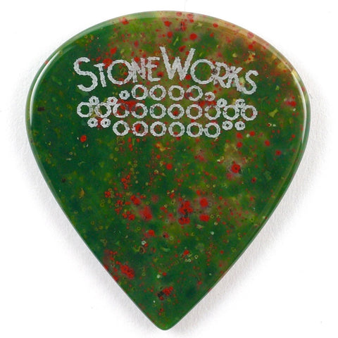 Fancy Jasper - Jazz Size Stone Guitar Pick