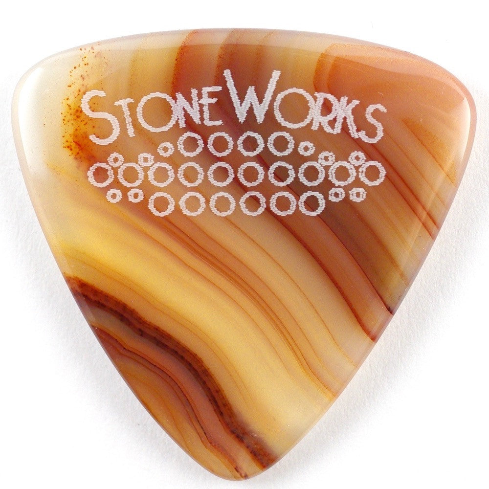 Brazilian Agate - Triangle Stone Guitar Pick