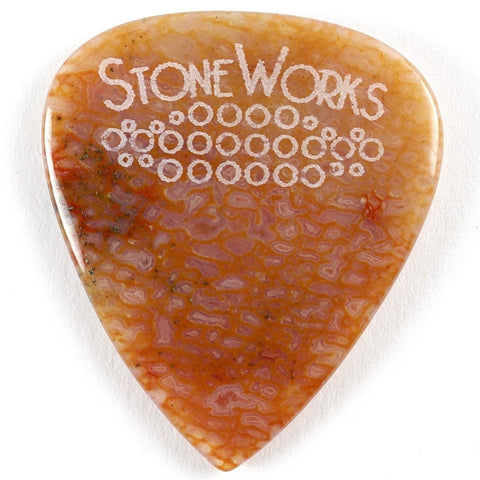 Agatized Dinosaur Bone Stone Guitar Pick