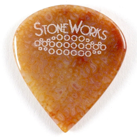 Agatized Dinosaur Bone Jazz Size Stone Guitar Pick