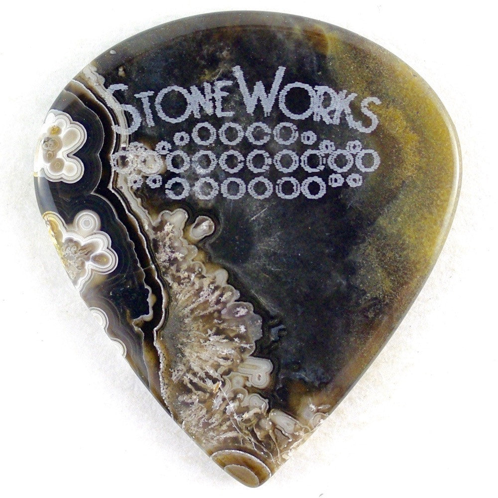 Crazy Lace Agate - Jazz Size Stone Guitar Pick