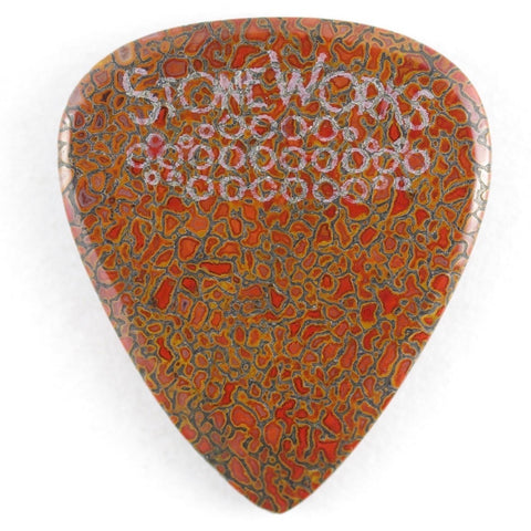 Agatized Dinosaur Bone - Stone Guitar Pick