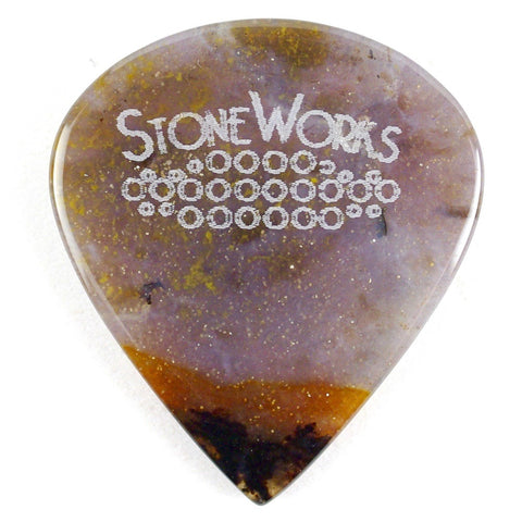 Snake River Agate - Jazz Size Stone Guitar Pick
