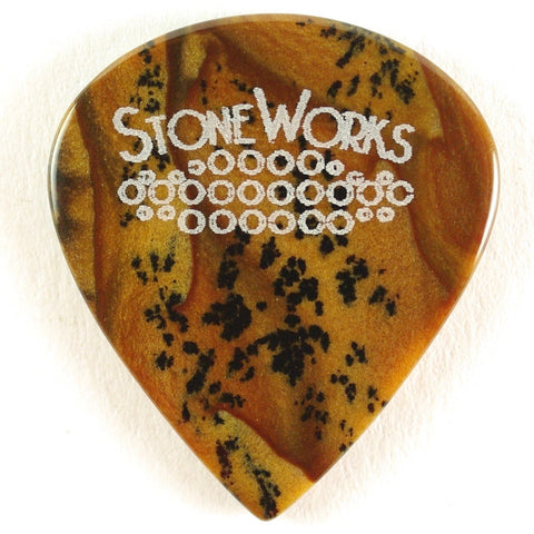 Biggs Jasper - Jazz Size Stone Guitar Pick
