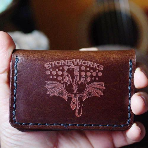 Guitar Pick Wallet- Diego Maduro Leather
