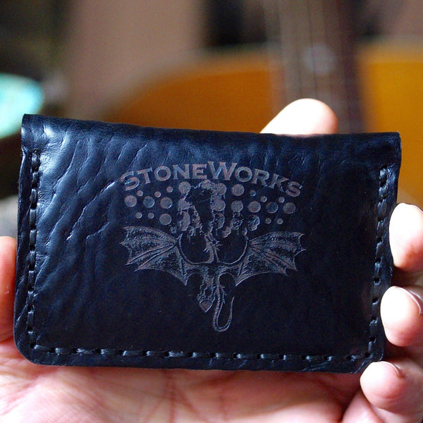 Guitar Pick Wallet- Diego Black Leather