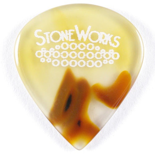 Brazilian Agate - Jazz Size Stone Guitar Pick - Thin