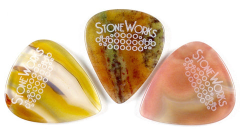 StoneWorks Starter Pack - You'll Get One Thin & One Medium for $30.00. Plus I'll Add a Heavy Pick for FREE.