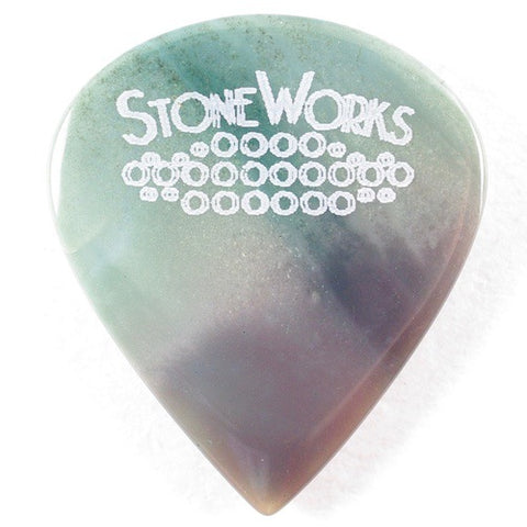 Madagascar Landscape Jasper - Jazz Guitar Pick - Heavy