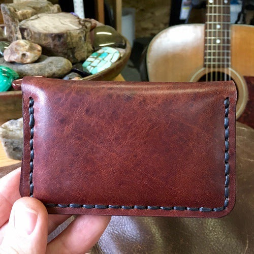 Guitar Pick Wallet - Horween Derby Brown Leather