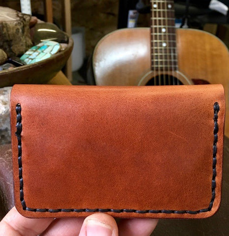 Guitar Pick Wallet- Horween Dublin English Tan Leather