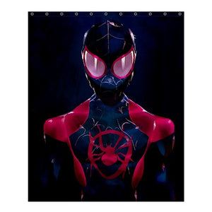 MILES MORALES IN SPIDERMAN: INTO SPIDER  VERSE CARTOON #04 SHOWER CURTAIN