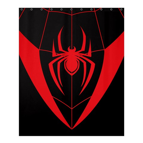 MILES MORALES LOGO IN SPIDERMAN: INTO SPIDER  VERSE CARTOON  SHOWER CURTAIN
